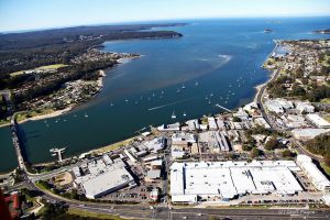 Batemans Bay from above. Source Bay Chamber FB page taken by Geoff Payne
