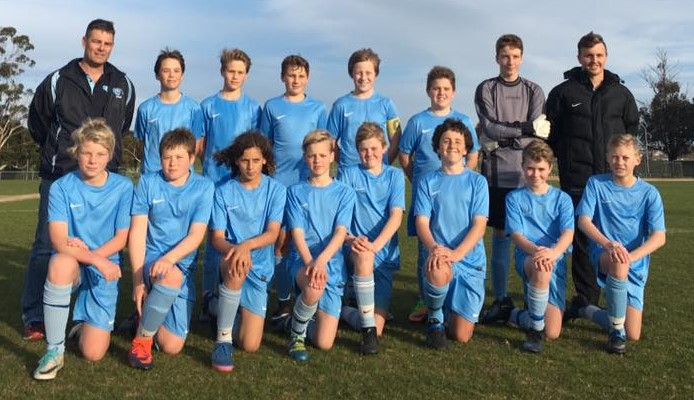 Back row - Craig Howker (Manager), Ruben Yee, Jacob Shields, Koby Cowen, Will Roberts, Gabriel Cross, Woti Fastigata, Toby Willington (Coach). Front row – Luke Shaw, Oscar Campbell, Taj Warren, Archer White, Jez Carrett, Isaac Willington, Zac Jolly, Liam Kelly.