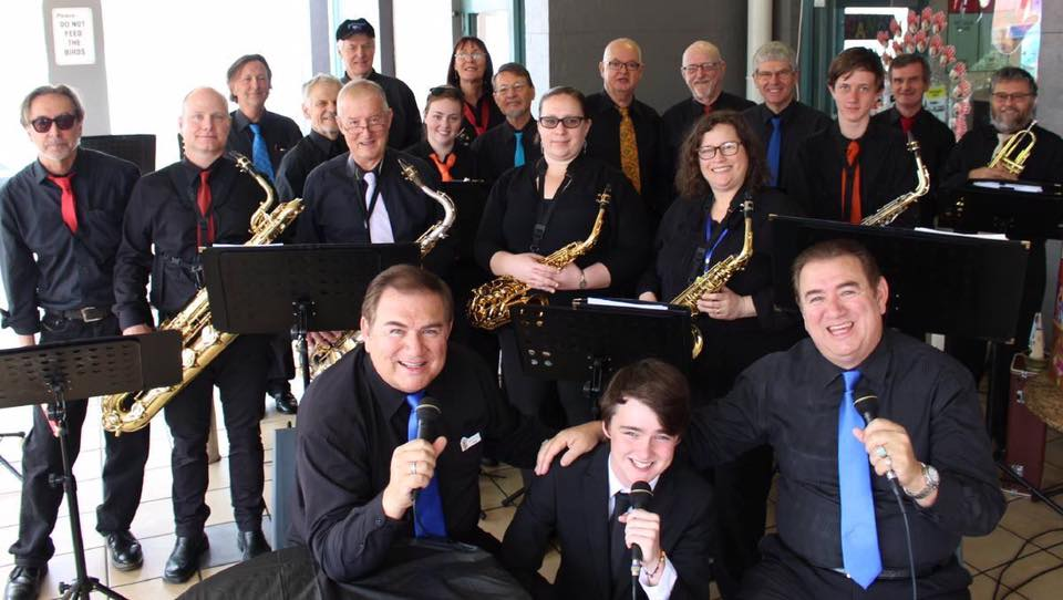 David and Geoff Willis and the Sapphire Coast Concert Band. Source: Facebook