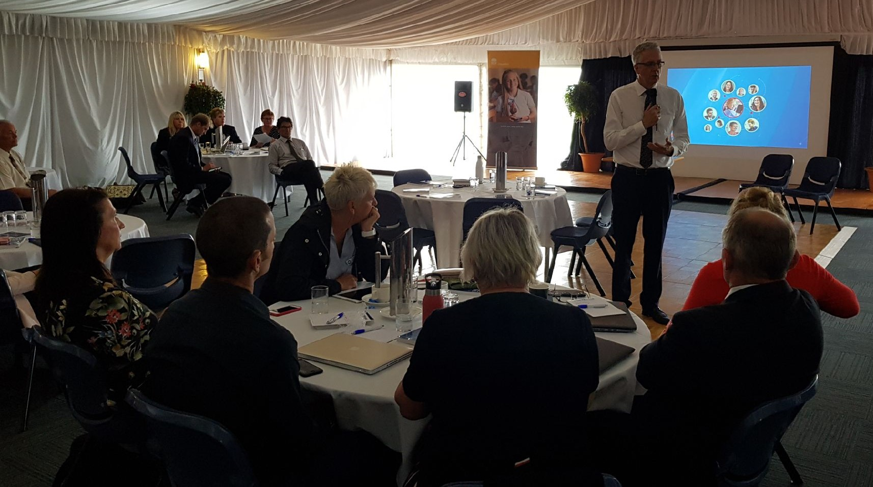 Mark Scott speaking to principals from across southern NSW in Batemans Bay on Monday. Photo: Dept of Education.