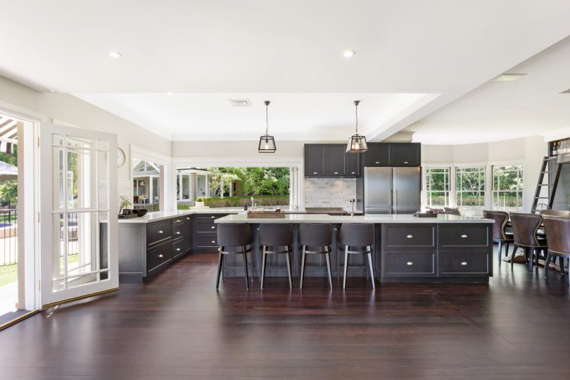 A large and light-filled kitchen