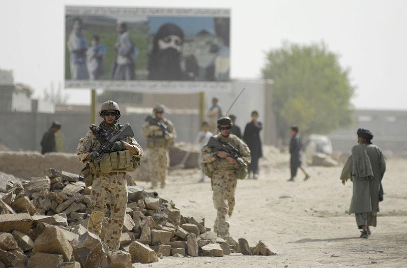 Australian soldiers on patrol in Afghanistan