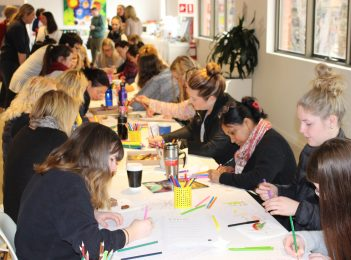 Colouring for change in Cooma, lead by local teens