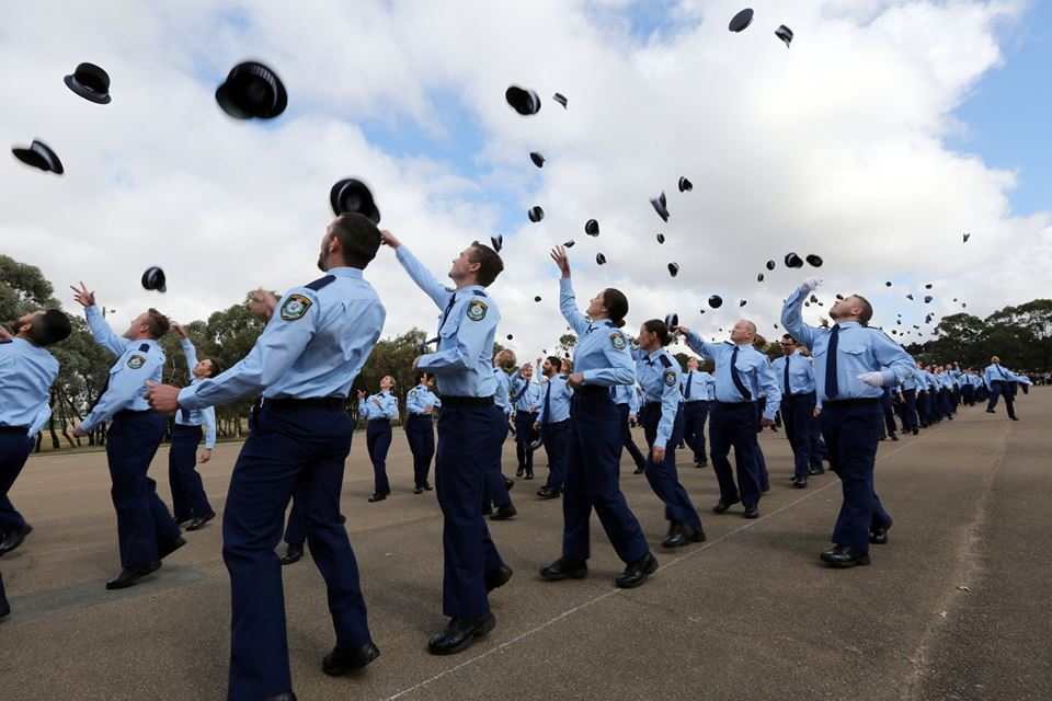 Class 333 is now on the beat with NSW Police as probationary constables. Photo: NSW Police Facebook