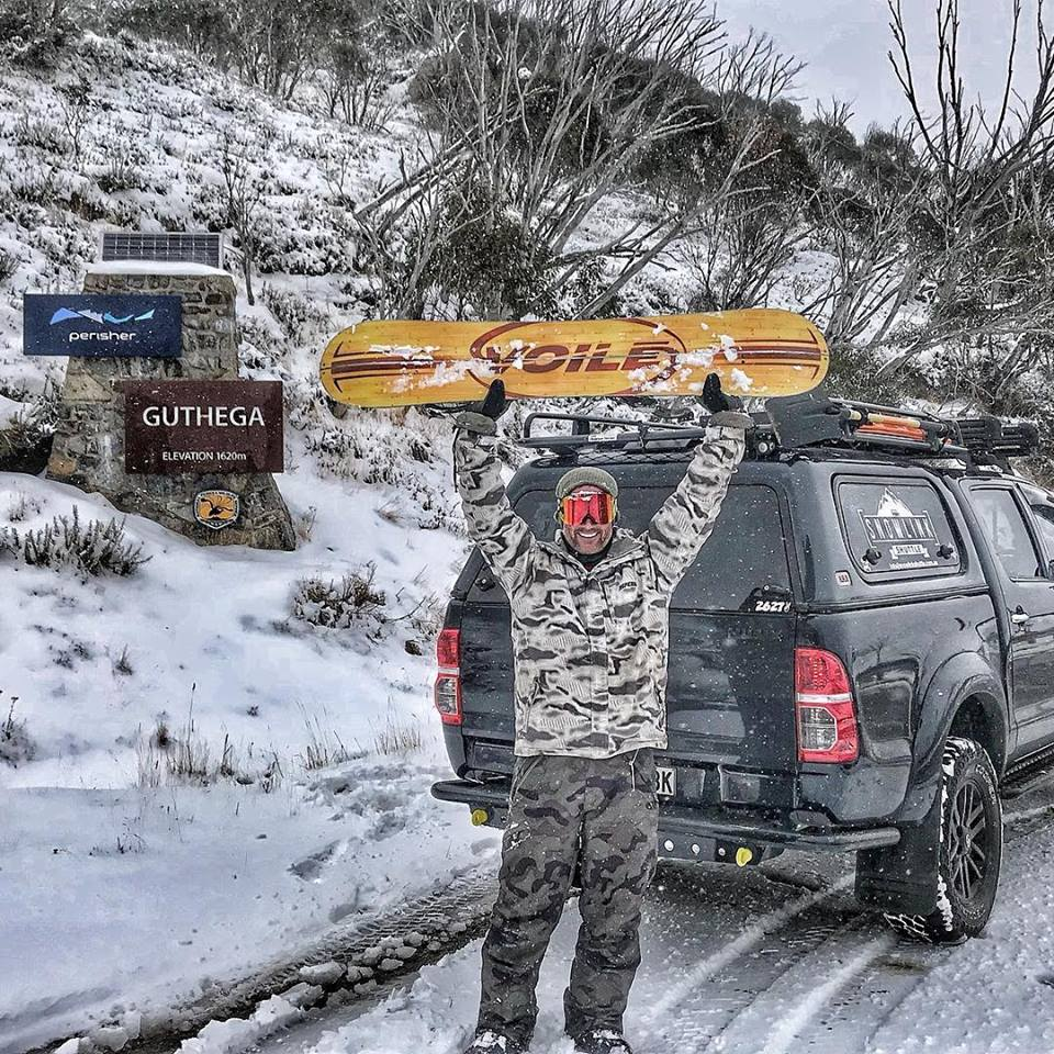 Snow - lets go! Steve from Wildman Film Productions can't wait. Photo: For the Love of Jindabyne Facebook.