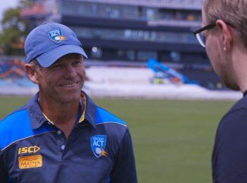 Meet Manuka Oval's head curator Brad van Dam as a historic summer of cricket starts