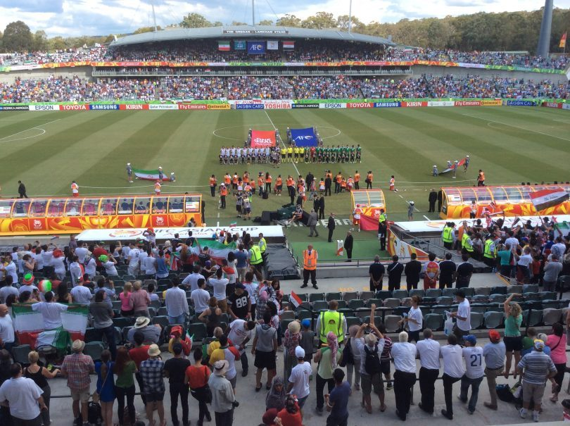Asian Cup 2015 at Canberra Stadium. Photo: Tim Gavel.