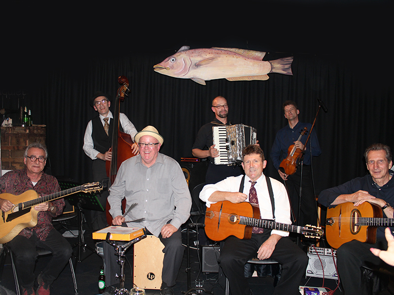 Jazz band Lulu Swing will be performing in The Hunting Lodge overlooking Lake Tuggeranong.
