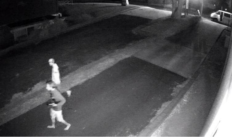 CCTV captured the suspects by unfortunately the picture quality is low. Photo: South Coast Police District.