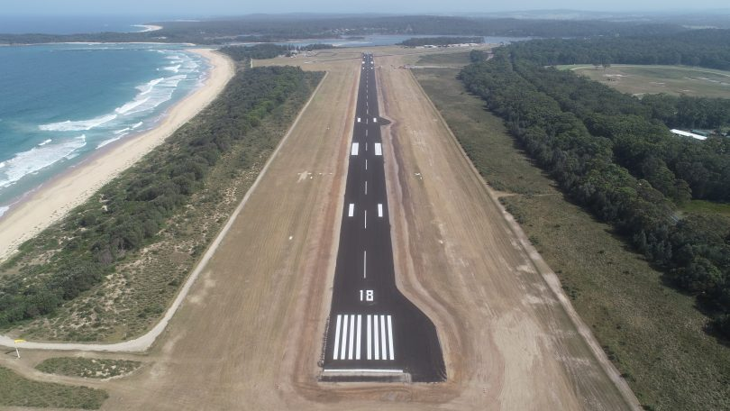 The new Moruya Airport runway. Photo: ESC.