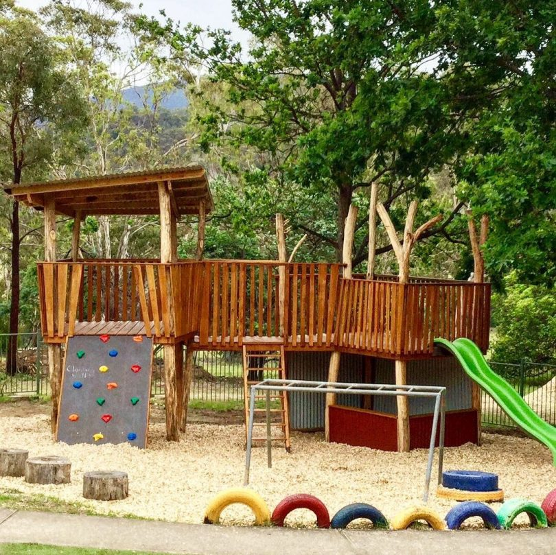 The new fort at Rocky Hall Preschool. Photo: Supplied.