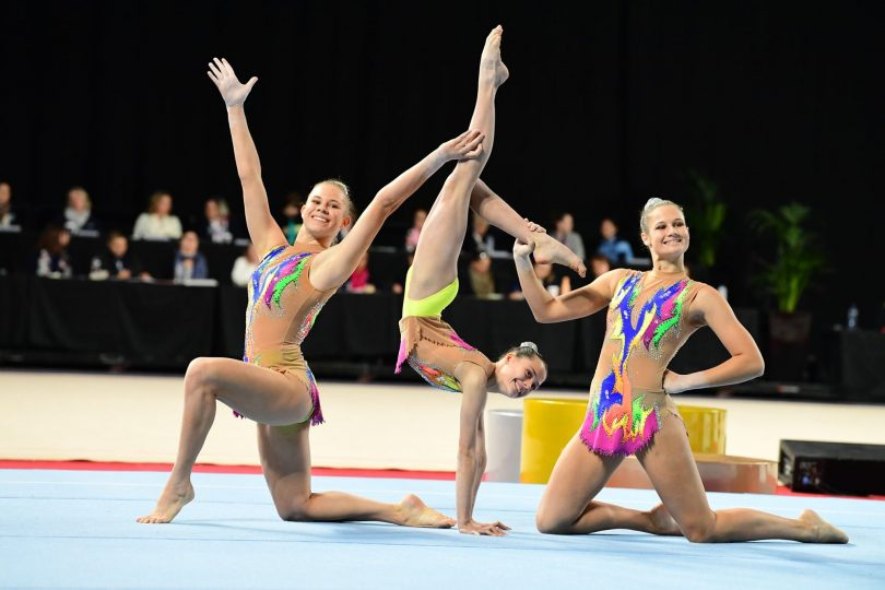 Performing at the Australian National Gymnastics Championships in Melbourne on 3rd June. Photo: supplied