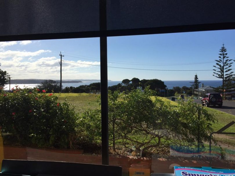 Fantastic ocean views are just part of the national appeal of Tahra Post Office. Photo: Tathra LPO Facebook page.