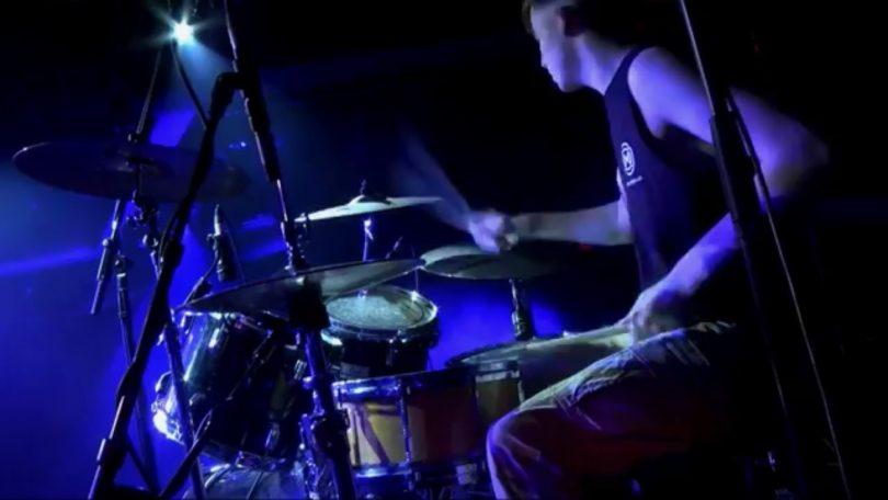 Drummer Jake credits his teacher Ken Vatcher for his drumming skills. Photo: Supplied.