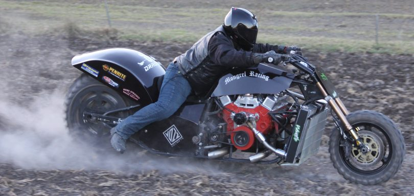 Jason Whitby and The Mongrel Racing V8 Sand Drag Team. Photo: Supplied.