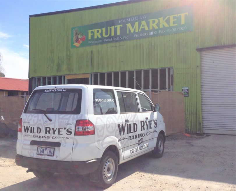 Pambula business Wild Rye's bakery and roastery is expanding into the old fruit market building. Photo: Elka Wood.