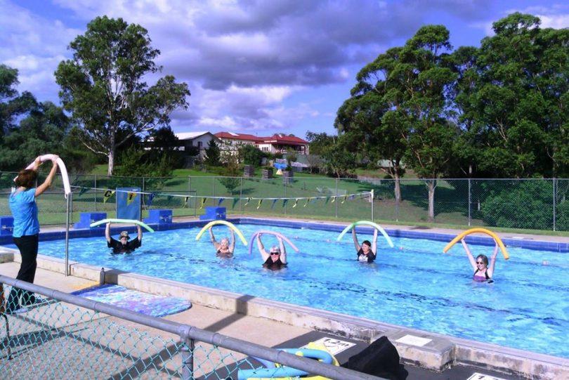 Aqua aerobics at Bemboka Pool. Photo: Sapphire Aquatic Facebook.
