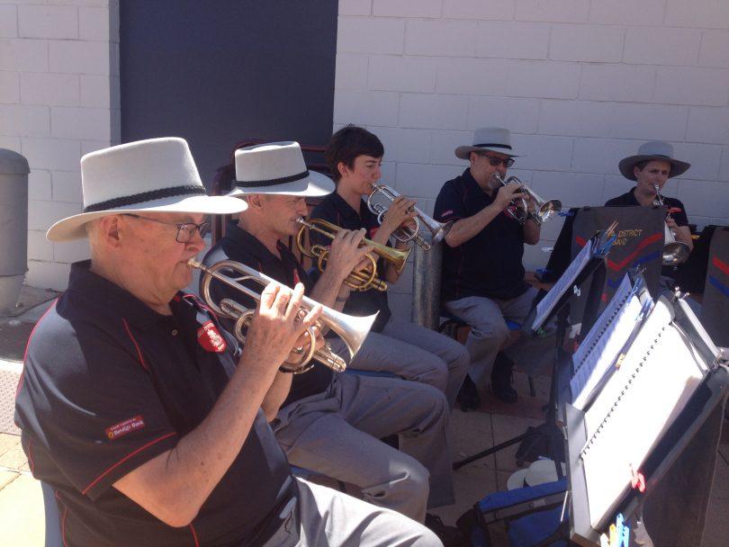 Bega District Band plays in Ayres Walkway