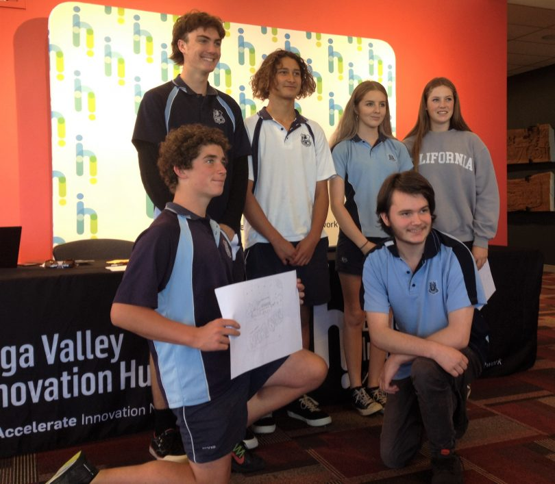 One of the groups from yesterday's pitch session, hosted by Bega Valley Innovation Hub. Photo: Elka Wood.