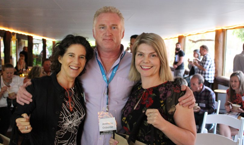 Jan Hutton, General Manager Marketing - Destination NSW, Anthony Osborne - Sapphire Coast Destination Marketing, and Sarah McDougall - Lake George Winery. Photo: Ian Campbell.