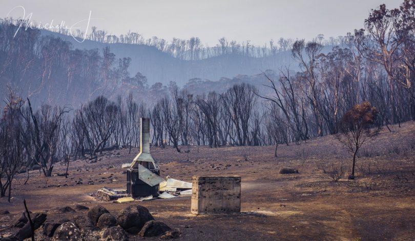 Delaney's hut burnt