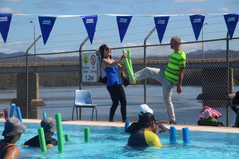 Aqua Fitness Instructors Dominic Gili and Claire Barker-Hemings