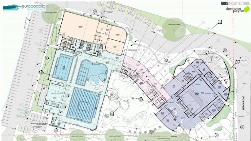 Plan of Batemans Bay Regional Aquatic, Arts and Leisure Centre.