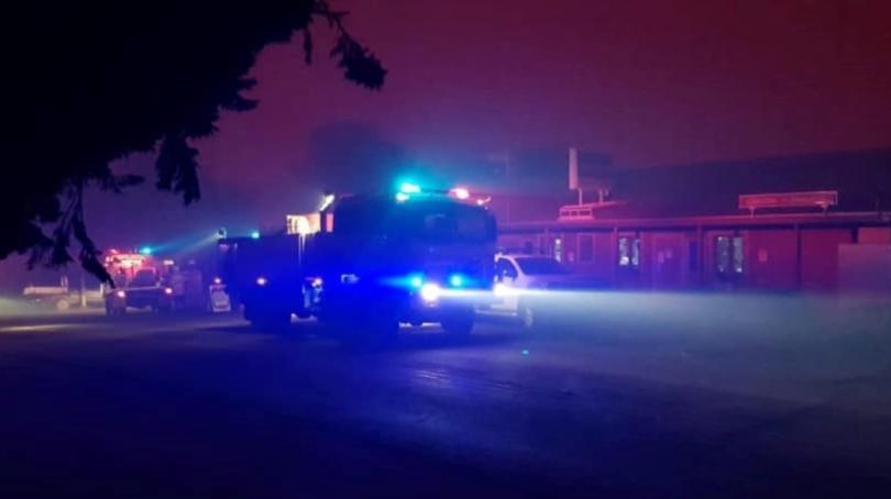 Firetruck in Nerriga during Black Summer bushfires.