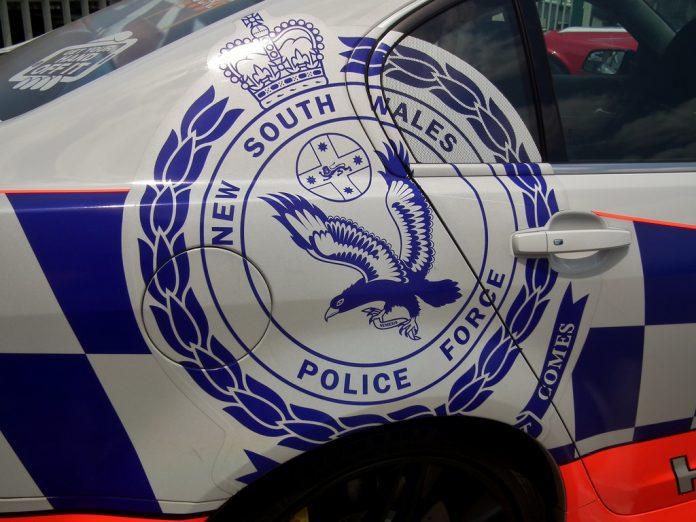 NSW Police logo on vehicle
