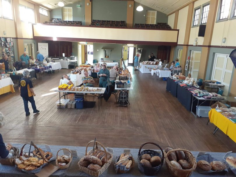 Market stalls at Yass Community Market