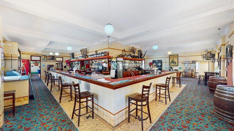 Front bar at Captains Flat Hotel