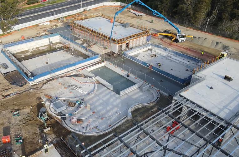 Construction site for Bay Pavilions