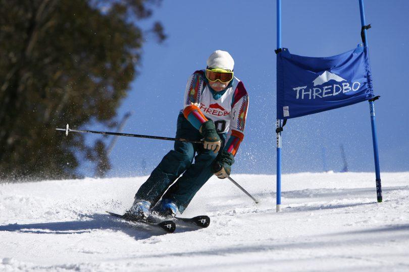 Frank Prihoda skiing in the Thredbo Masters in 2007