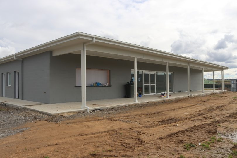 The new Graham Coe Pavilion at the Cookbundoon sports park is almost complete.